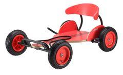 The New Red Racer Wooden Go Kart