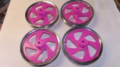 4 x pink birch ply wheel rims