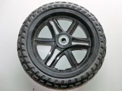 """1 x 11"""" black plastic wheel with solid tyre"""