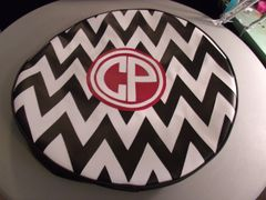 Chevron Monogram Spare Tire Cover CB CP