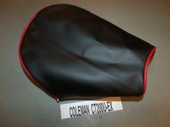 Coleman CT200U-EX Mini Bike Seat Upholstery Black N Red