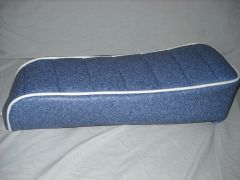 Mini Bike Seat Upholstery Tuck N Roll Granite Blue With White