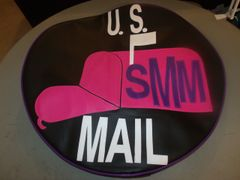 US Mail Monogramed Spare Tire Cover
