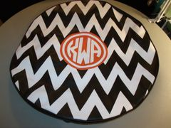 Chevron Monogram Spare Tire Cover CB KWA