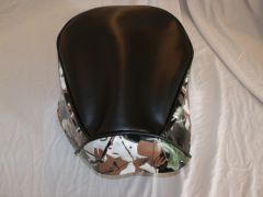 Baja Warrior Heat Mini Bike Seat Upholstery Black With Green Camo Sides