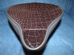 Beach Cruiser Seat Upholstery Dark Brown Gator And Black