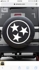 AAAA Cindy J. Three Star Spare Tire Cover 285/75/16