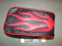 Coleman CT100U Mini Bike Seat Upholstery Red Flames