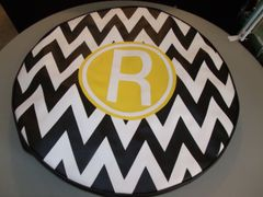 Chevron Monogram Spare Tire Cover R