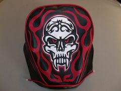 Baja Warrheat Mini Bike Seat Upholstery Skull And Flames