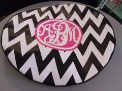 Chevron Monogram Spare Tire Cover SC ABM