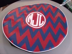 Chevron Monogram Spare Tire Cover CB MJL