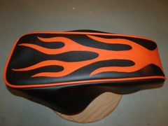 Coleman CT200U Mini Bike Seat Upholstery Black With Orange Flames