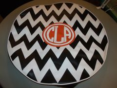 Chevron Monogram Spare Tire Cover CB CLA