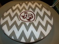 Chevron Monogram Spare Tire Cover Big Texas ATM