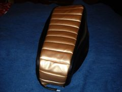 Mini Bike Seat Upholstery Tuck N Roll Gold And Black Sides