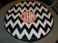 Chevron Monogram Spare Tire Cover CB IHM