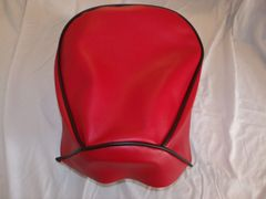 Baja Warrior heat Mini Bike Seat Upholstery Red With Black Trim
