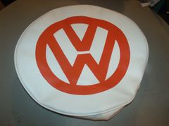VW Van Orange And White Spare Tire Cover