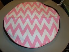 Chevron Monogram Spare Tire Cover light Pink And White