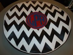 Chevron Monogram Spare Tire Cover CB LPA