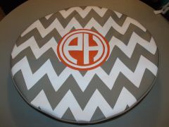 Chevron Monogram Spare Tire Cover CB PH