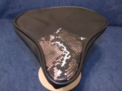 Beach Cruiser Seat Upholstery Black And Snake Skin