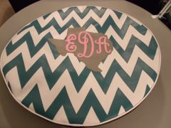 Chevron Monogram Spare Tire Cover Big Texas EDA