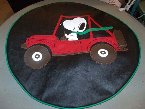 Jeep Tire Cover Snoopy Driving Jeep Lxmboutique Spare