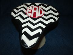 Beach Cruiser Seat Upholstery Chevron Monogram