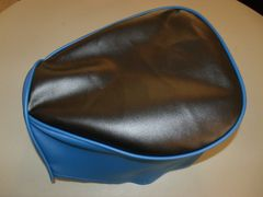 Baja Warrior heat Mini Bike Seat Upholstery Black With Royal Blue Sides