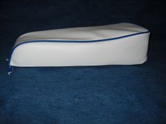 Mini Bike Seat Upholstery White With Royal Blue Trim