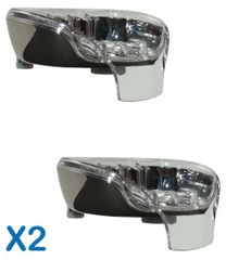 Bundle Deal: 2 Chrome Soapseats - pick your top tray colors