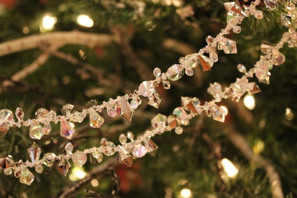 Glass Bead Christmas Tree Garland