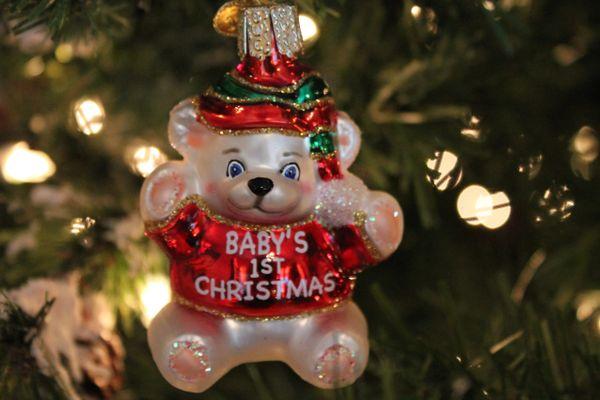 Old World Christmas Babys 1st Christmas Glass Ornament Browse The