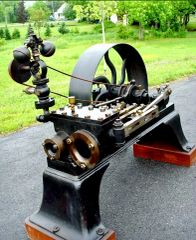 1885 HUNTOON COMPOUND STEAM ENGINE EX FORD MUSEUM (Sold 1/16)