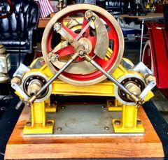 ca. 1900 GEORGE E. WHITNEY TWIN OSCILLATING CYLINDER STEAM ENGINE