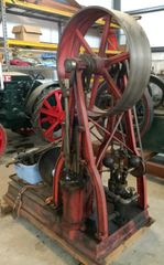 Ca 1860 Chubuck and Campbell Gothic Frame Steam Engine and Boiler