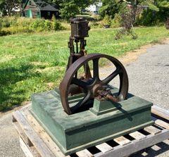 ca. 1885 CH. AMES DIXFIELD, MAINE. VERTICAL STEAM SHOP ENGINE