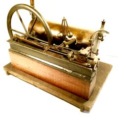 Fine ca. 1860 Horizontal Box Bed Steam Engine and Boiler Model