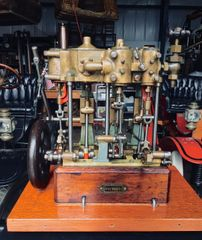 ca. 1895 GEORGE E. WHITNEY TRIPLE EXPANSION MARINE STEAM ENGINE