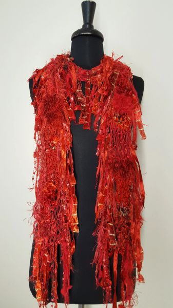 Red Fantasy Scarf