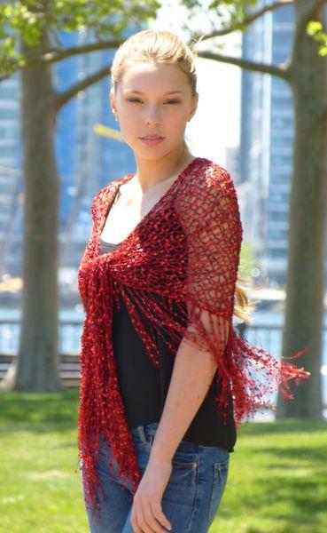Red Confetti Shawl