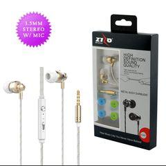 3.5mm Universal Handsfree w/Metal Body Earbuds