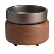 Pewter & Walnut 2 in 1 Fragrance Warmer Melts Wax & Candles