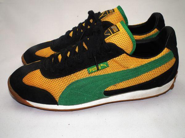 a4dbc0a7097 2001 true vintage Puma Jamaica mens trainers size UK 9