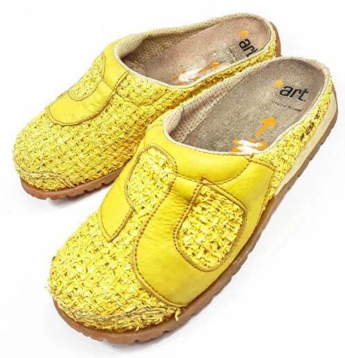 2682b8cb4f2 womens yellow vintage clogs size uk 4