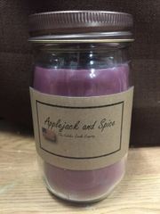 Applejack and Spice 16 ounce jar candle