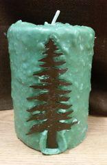 Large Pine Needles cake candle