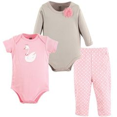 HUDSON BABY 2 BODYSUITS AND PANTS SET